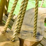 rope swings with handmade wooden seat